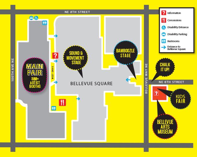 BAM ARTSfair - Bellevue Arts Museum on bellevue washington zip code map, city of bellevue ohio map, bellevue mall map, bellevue collection map, the shops at willow bend map, southcenter mall map, boeing bellevue map, totem lake mall map, glenbrook square map, washington square map, town square store map, bellevue ia map, bellevue college map, the space needle map, bellevue place map, bellevue transit center map, south bellevue map, overlake hospital medical center map, assembly square map, bellevue wa map,